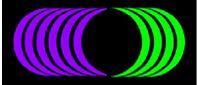 Onde de Forme Lumineuse qui laissent diffracter l'énergie lumineuse.Luminotherapie-formation.com Martine Roux