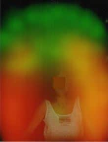 Photo Kirlian de l'aura après une emission de lumière1.2