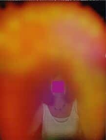 Photo Kirlian de l'aura avant une emission de lumière 1.1